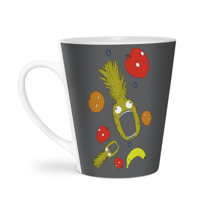 Falling Fruit Accessories Latte Mug by KAUFYSHOP