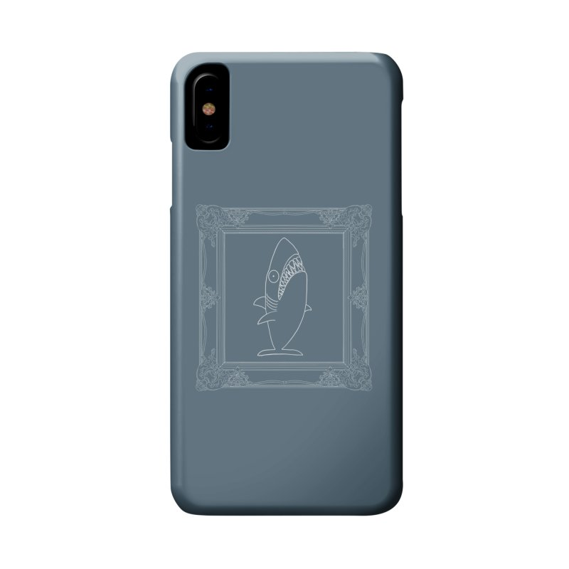 Portrait of a Great White Shark (outlined) Accessories Phone Case by KAUFYSHOP