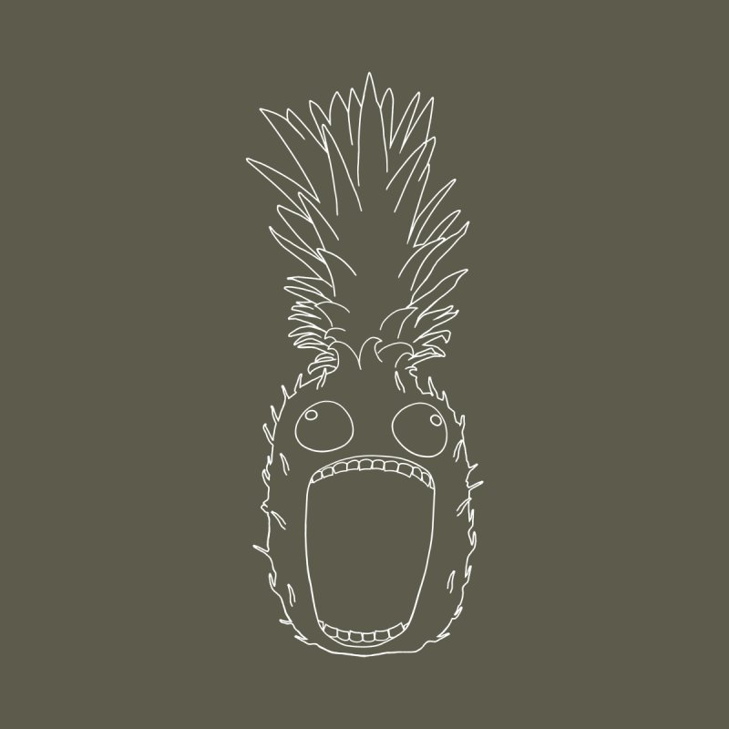 The Pineapple (outline) Kids T-Shirt by KAUFYSHOP