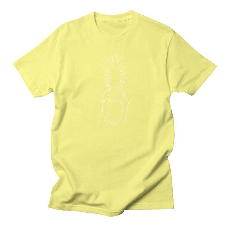 The Pineapple (outline) Women's Regular Unisex T-Shirt by KAUFYSHOP