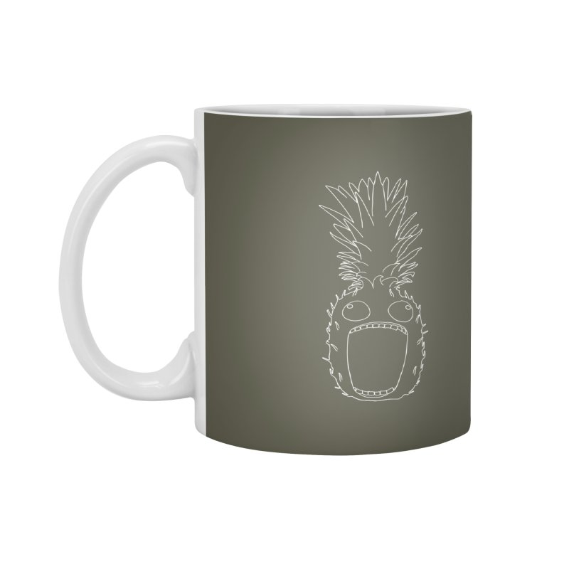 The Pineapple (outline) Accessories Mug by KAUFYSHOP