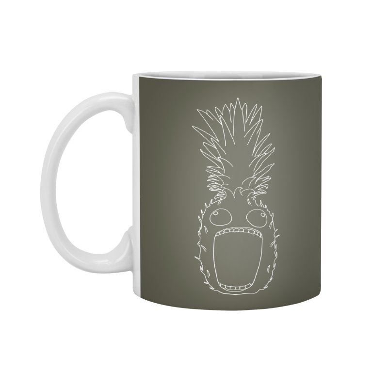 The Pineapple (outline) Accessories Standard Mug by KAUFYSHOP