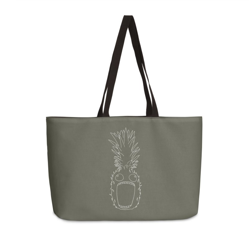 The Pineapple (outline) Accessories Weekender Bag Bag by KAUFYSHOP