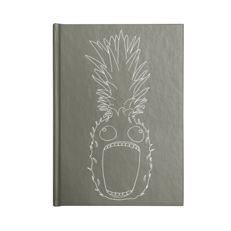 The Pineapple (outline) Accessories Blank Journal Notebook by KAUFYSHOP