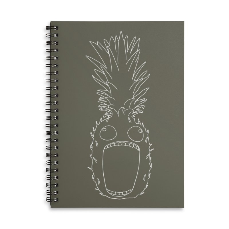 The Pineapple (outline) Accessories Lined Spiral Notebook by KAUFYSHOP