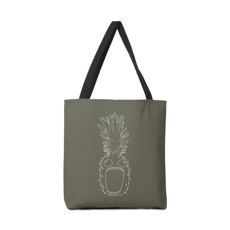 The Pineapple (outline) Accessories Tote Bag Bag by KAUFYSHOP
