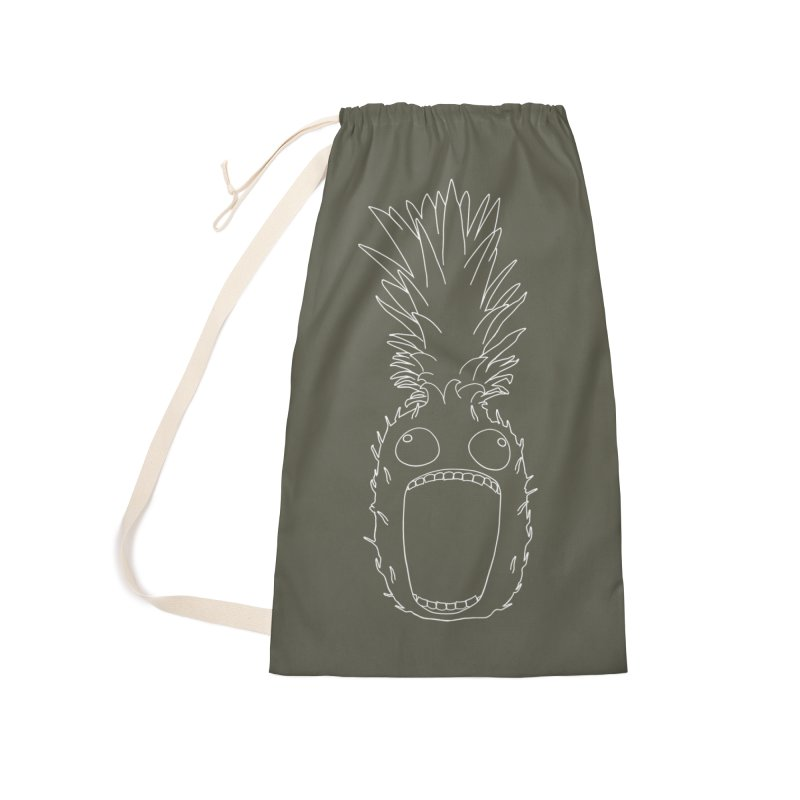 The Pineapple (outline) Accessories Laundry Bag Bag by KAUFYSHOP