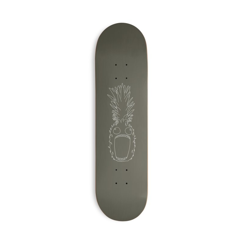 The Pineapple (outline) Accessories Skateboard by KAUFYSHOP