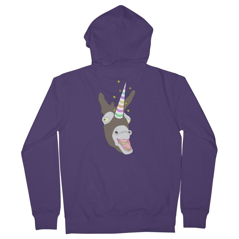 The Unicorn Women's French Terry Zip-Up Hoody by KAUFYSHOP