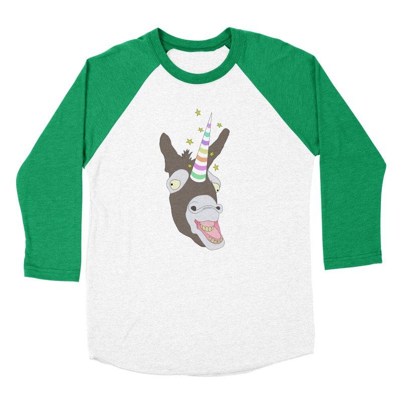 The Unicorn Men's Baseball Triblend Longsleeve T-Shirt by KAUFYSHOP