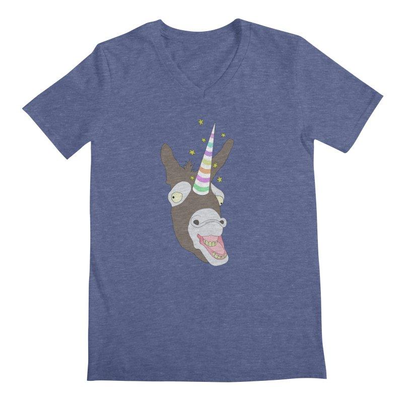 The Unicorn Men's Regular V-Neck by KAUFYSHOP