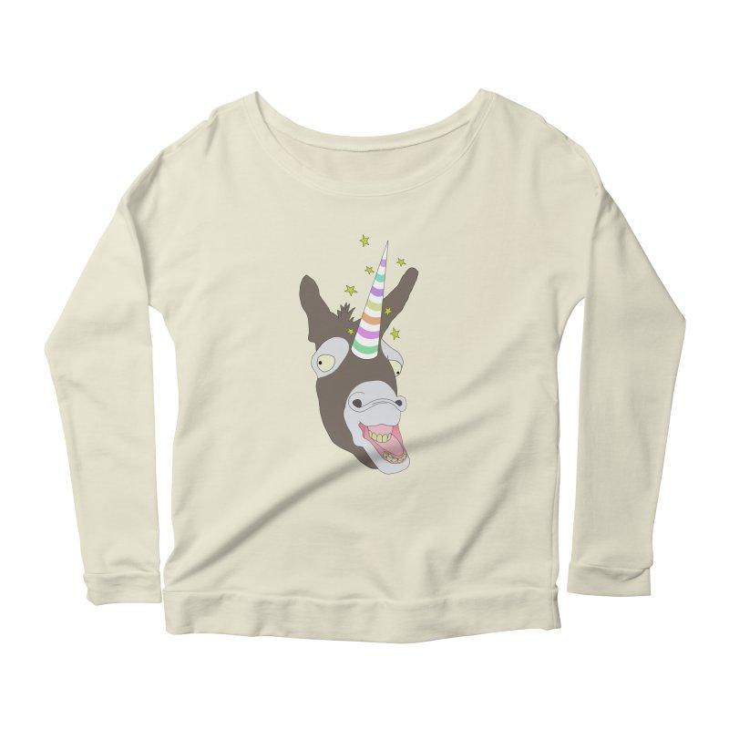 The Unicorn Women's Scoop Neck Longsleeve T-Shirt by KAUFYSHOP