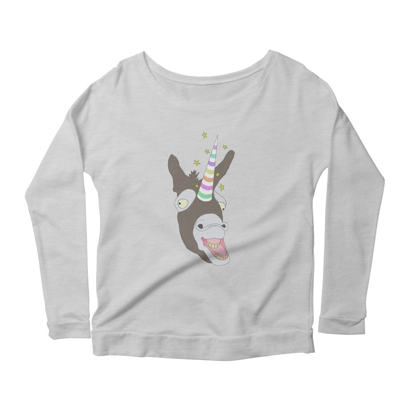 The Unicorn Women's Scoop Neck Longsleeve T-Shirt by KAUFYSHOP