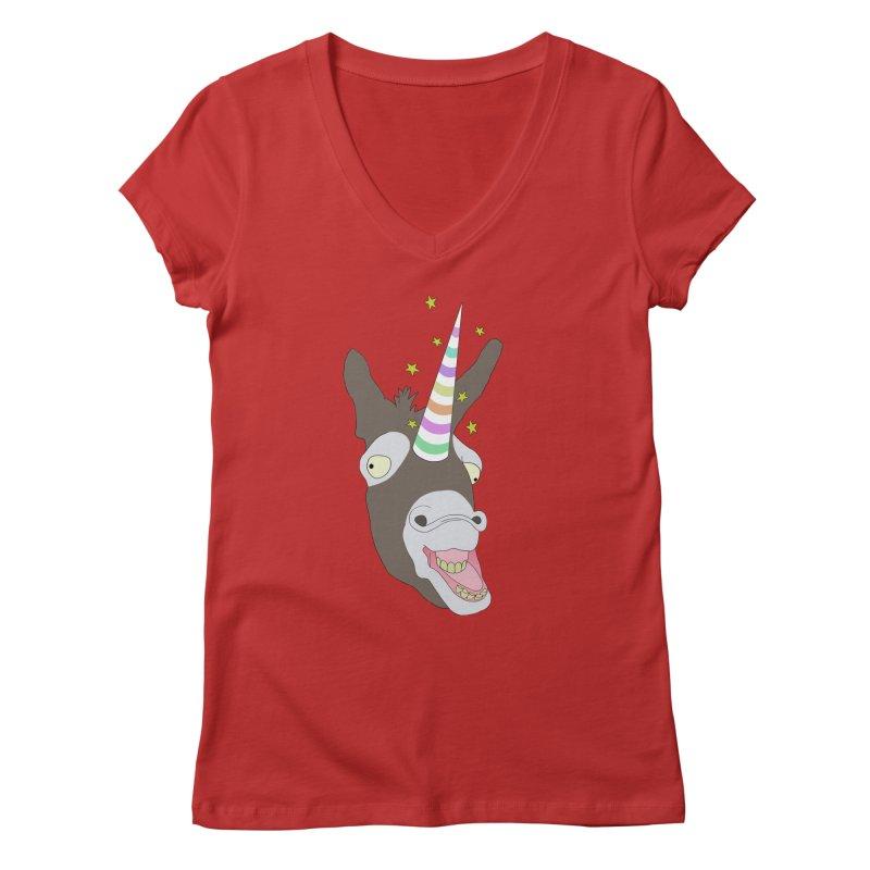 The Unicorn Women's Regular V-Neck by KAUFYSHOP