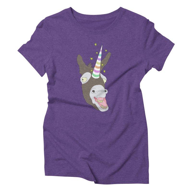 The Unicorn Women's Triblend T-Shirt by KAUFYSHOP