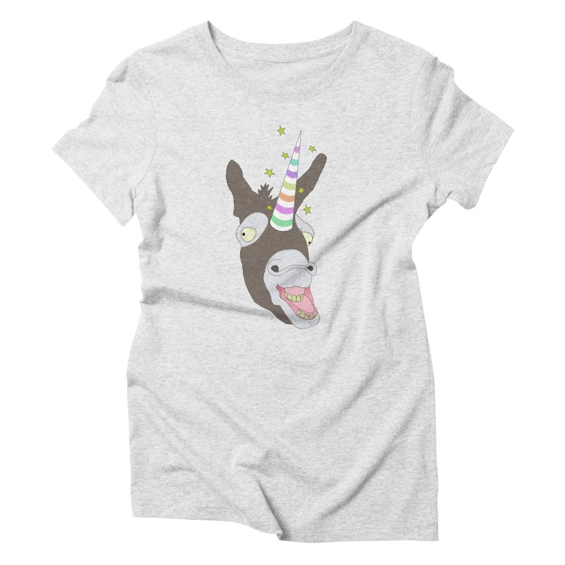 The Unicorn Women's Triblend T-Shirt by KAUFYSHOP