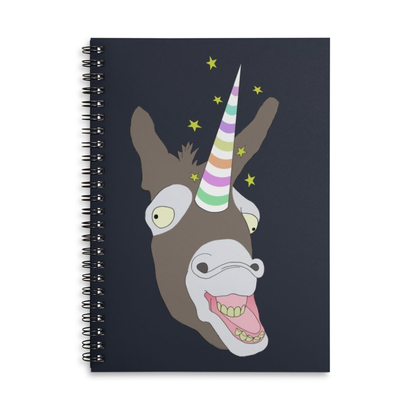 The Unicorn Accessories Lined Spiral Notebook by KAUFYSHOP