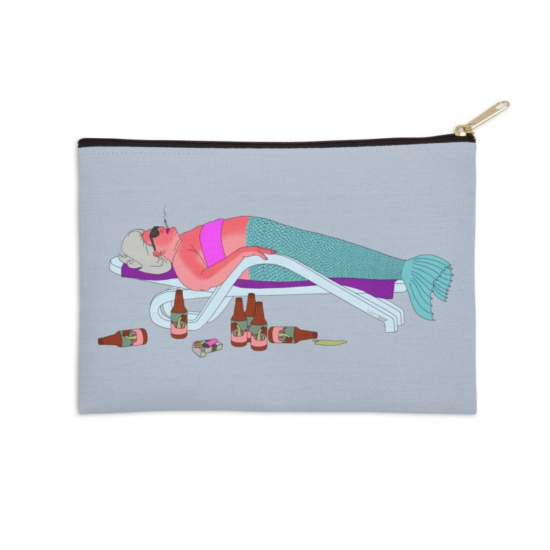 Mermaid Life Accessories Zip Pouch by KAUFYSHOP