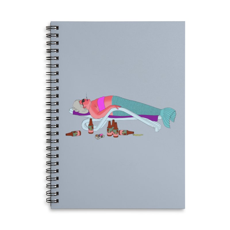 Mermaid Life Accessories Lined Spiral Notebook by KAUFYSHOP