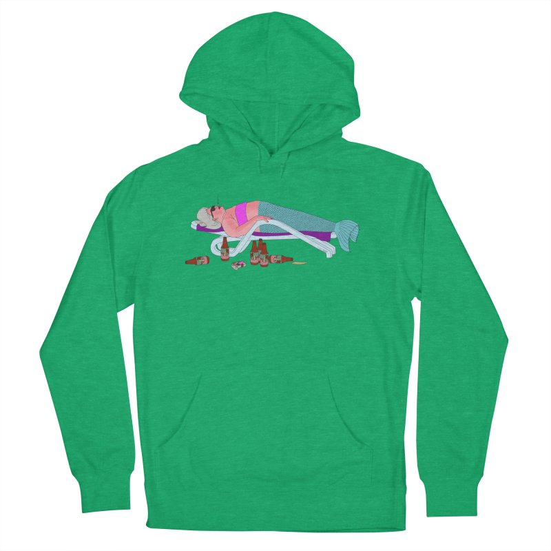 Mermaid Life Women's French Terry Pullover Hoody by KAUFYSHOP