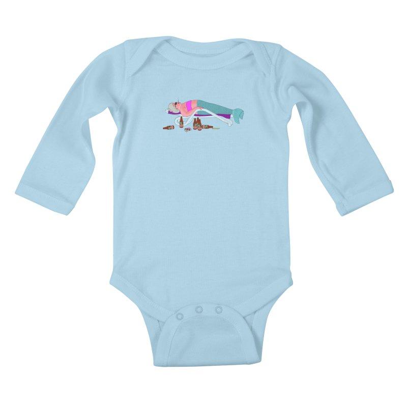 Mermaid Life Kids Baby Longsleeve Bodysuit by KAUFYSHOP