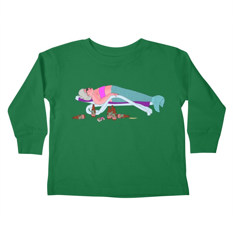 Mermaid Life Kids Toddler Longsleeve T-Shirt by KAUFYSHOP