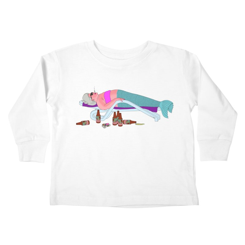 Mermaid Life Kids Toddler Longsleeve T-Shirt by KAUFYSHOP