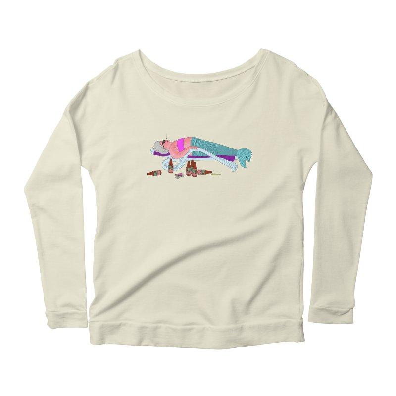 Mermaid Life Women's Scoop Neck Longsleeve T-Shirt by KAUFYSHOP