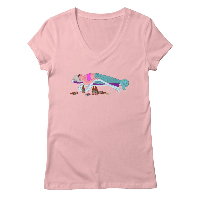 Mermaid Life Women's Regular V-Neck by KAUFYSHOP