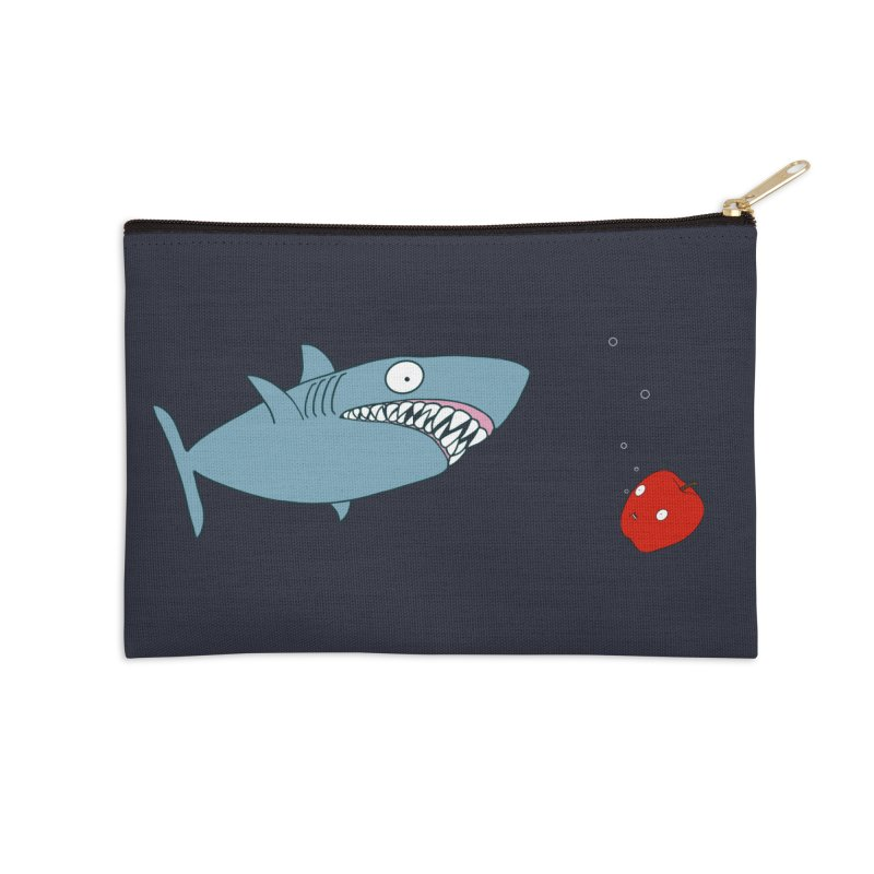 Shark and Apple Accessories Zip Pouch by KAUFYSHOP