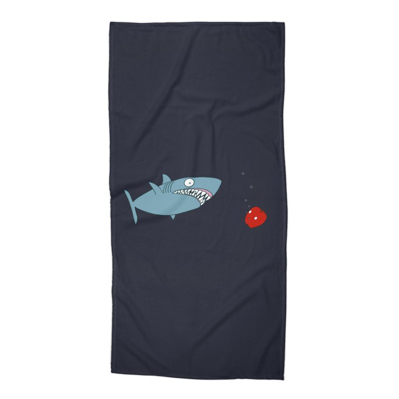Shark and Apple Accessories Beach Towel by KAUFYSHOP