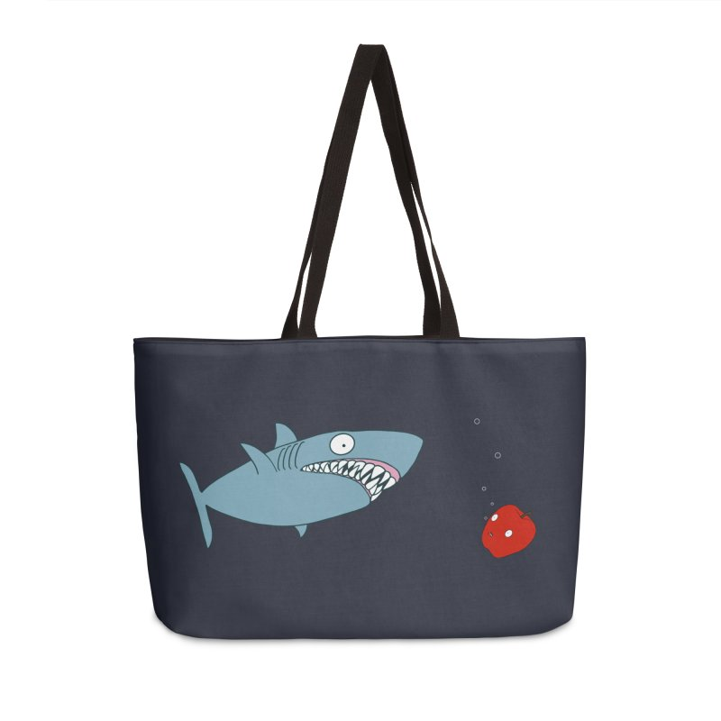 Shark and Apple Accessories Weekender Bag Bag by KAUFYSHOP