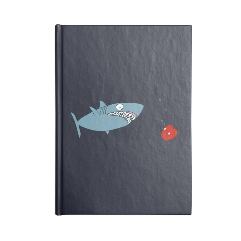 Shark and Apple Accessories Lined Journal Notebook by KAUFYSHOP