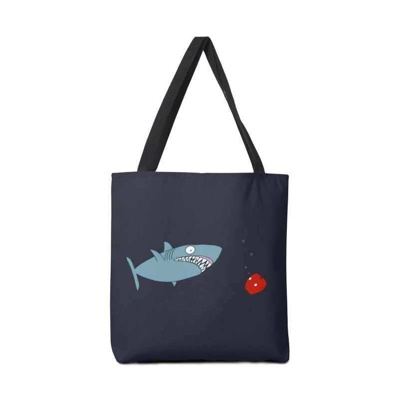 Shark and Apple Accessories Tote Bag Bag by KAUFYSHOP
