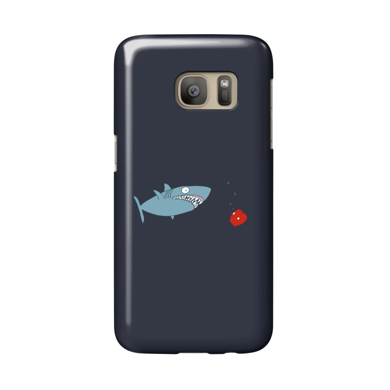Shark and Apple Accessories Phone Case by KAUFYSHOP