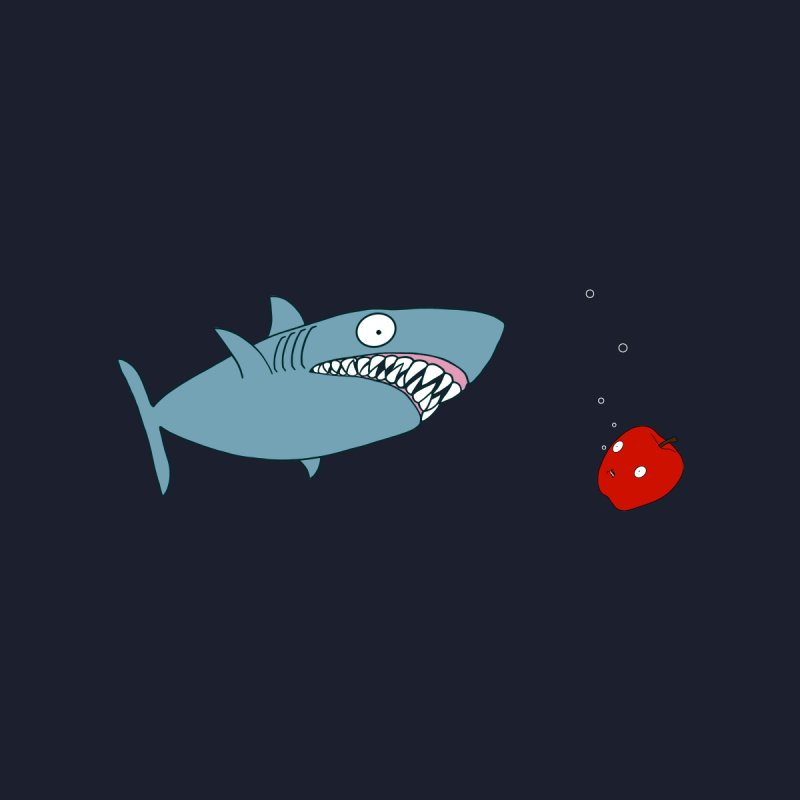 Shark and Apple Kids T-Shirt by KAUFYSHOP
