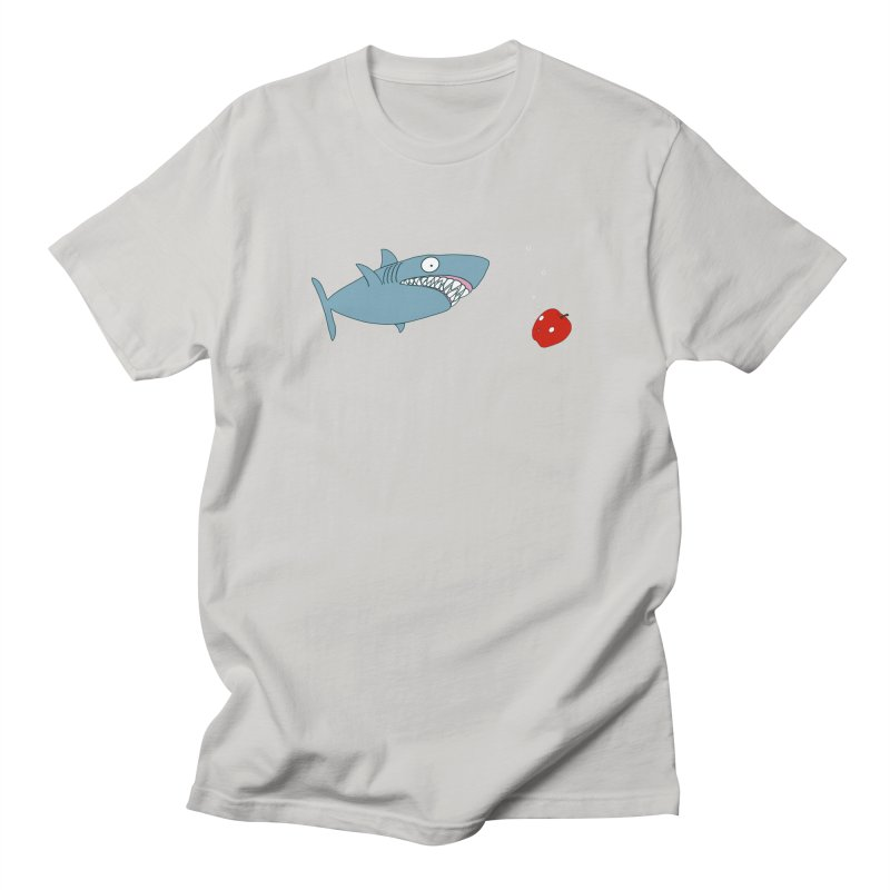 Shark and Apple Men's T-Shirt by KAUFYSHOP