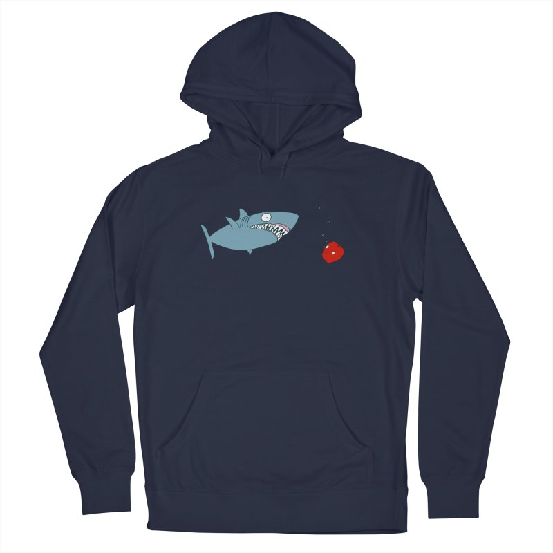 Shark and Apple Men's French Terry Pullover Hoody by KAUFYSHOP