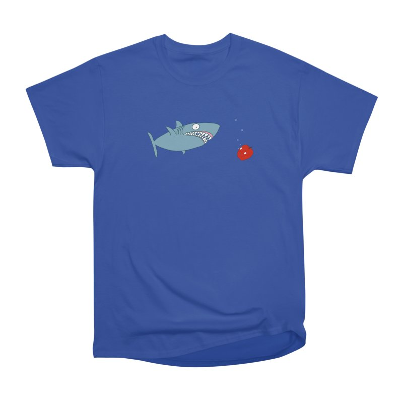 Shark and Apple Women's Heavyweight Unisex T-Shirt by KAUFYSHOP