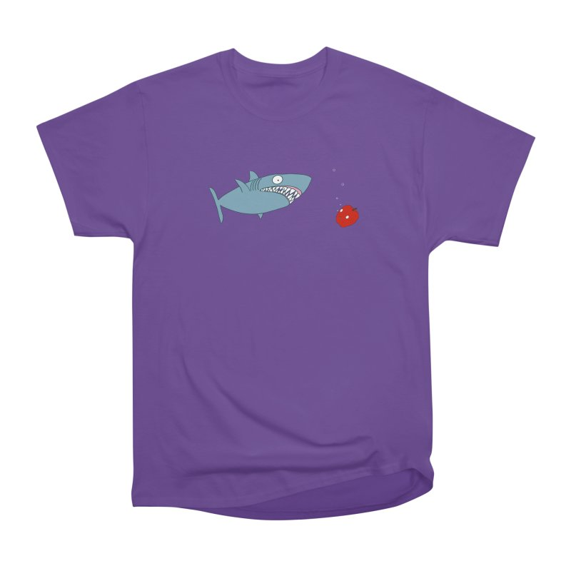 Shark and Apple Men's Heavyweight T-Shirt by KAUFYSHOP