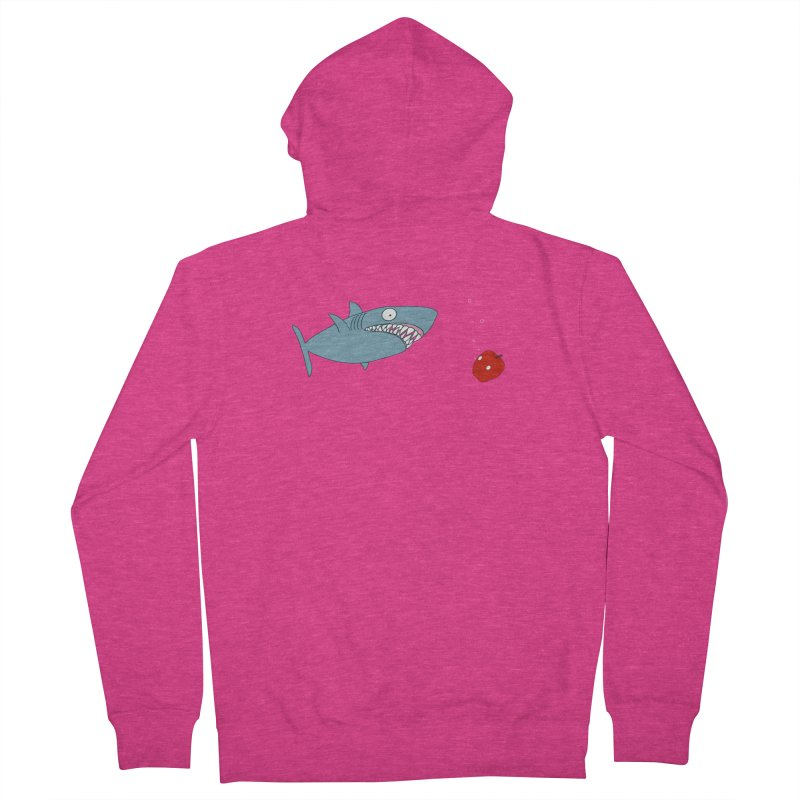 Shark and Apple Women's French Terry Zip-Up Hoody by KAUFYSHOP
