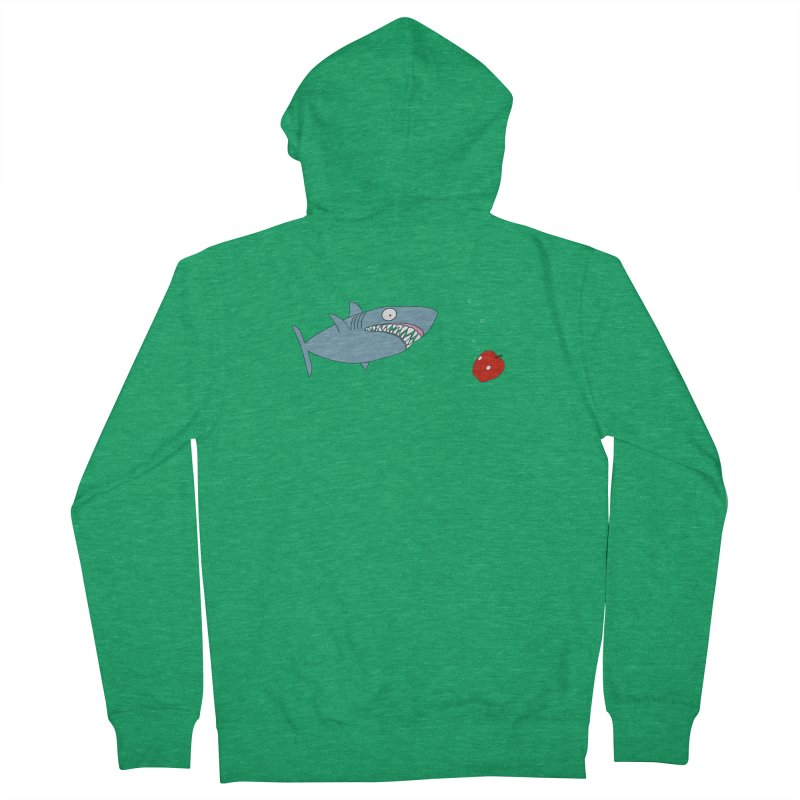 Shark and Apple Men's Zip-Up Hoody by KAUFYSHOP