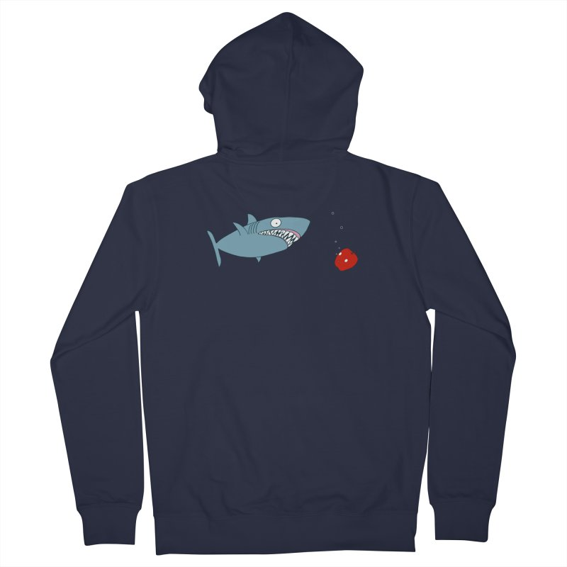 Shark and Apple Men's French Terry Zip-Up Hoody by KAUFYSHOP