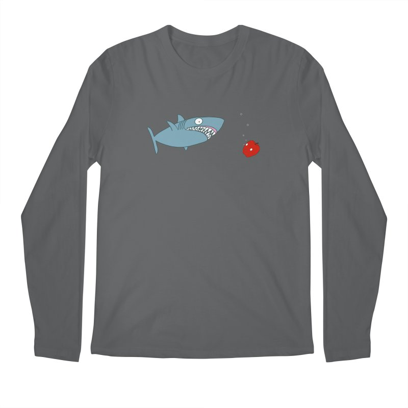 Shark and Apple Men's Longsleeve T-Shirt by KAUFYSHOP
