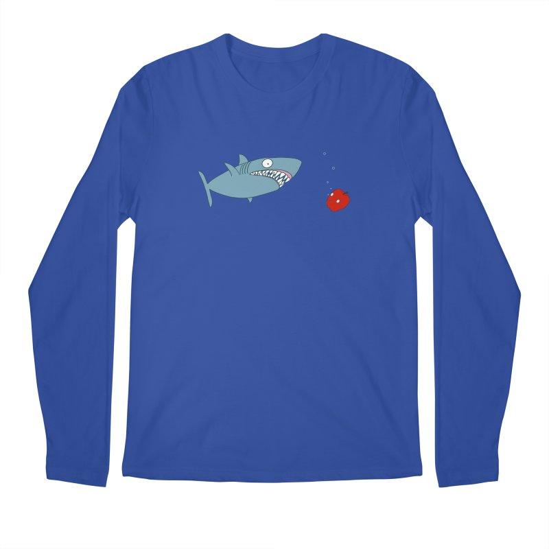 Shark and Apple Men's Regular Longsleeve T-Shirt by KAUFYSHOP