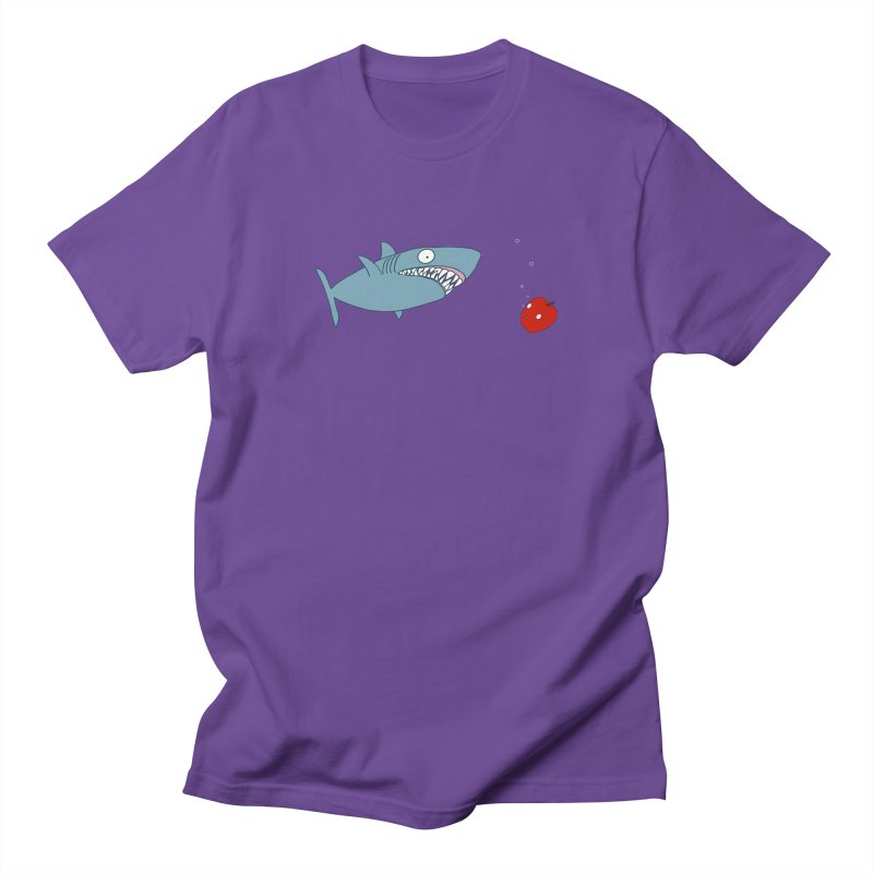 Shark and Apple Women's Regular Unisex T-Shirt by KAUFYSHOP