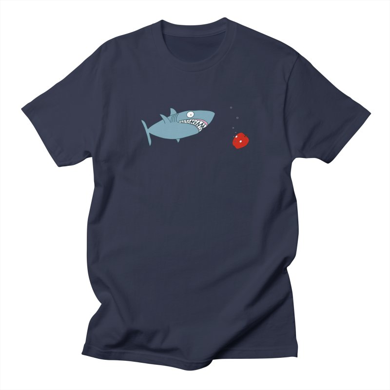 Shark and Apple Women's Regular Unisex T-Shirt by KAUFYSHOP