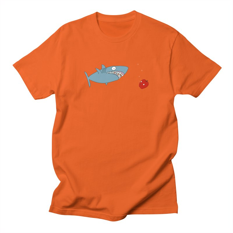 Shark and Apple Men's Regular T-Shirt by KAUFYSHOP