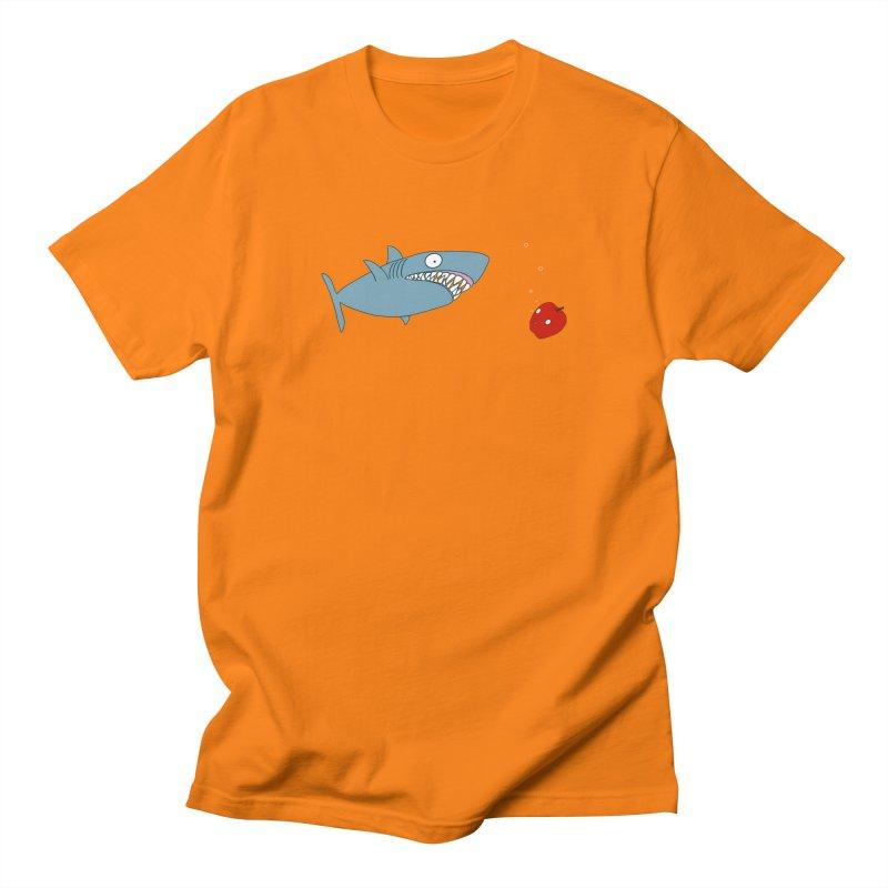 Shark and Apple Men's Regular T-Shirt by KAUFYSHOP