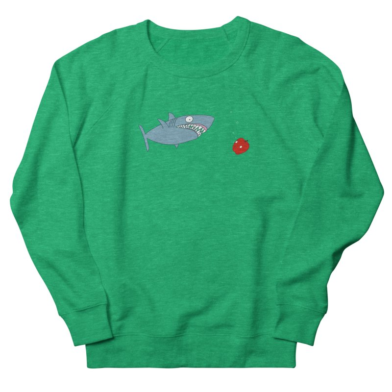 Shark and Apple Women's Sweatshirt by KAUFYSHOP
